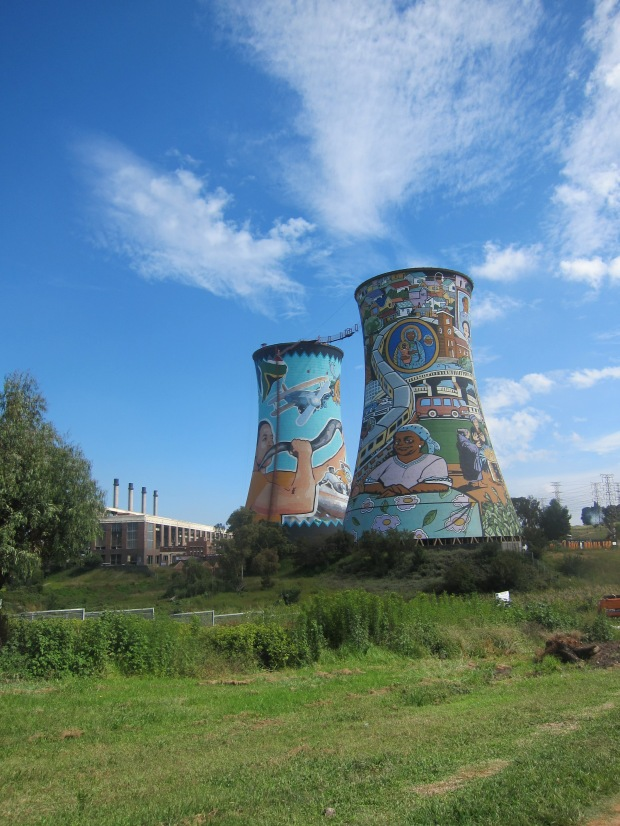 Cooling towers Orlando, Soweto, Johannesburg.