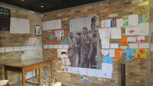 inside Nelson Mandela's room at Liliesleaf Farm Johannesburg South Africa