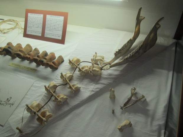 Childrens toys made from ox oxen bones at the voortrekker momument