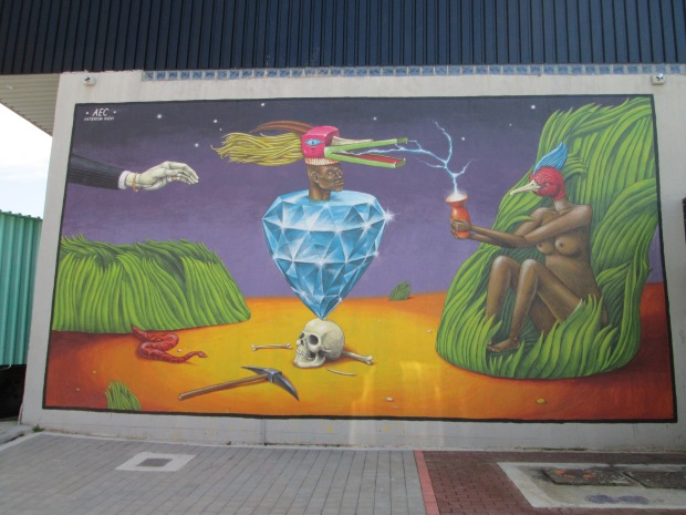 Street art grafiti in Johannesburg