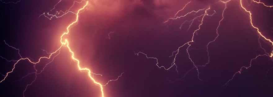 lightning in night sky