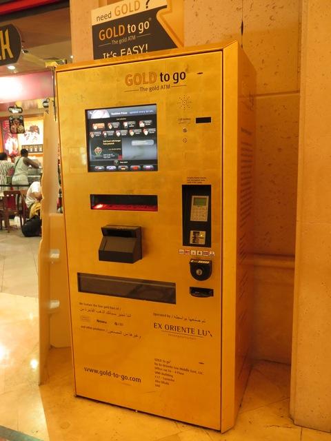 Gold to go vending machine Dubai.