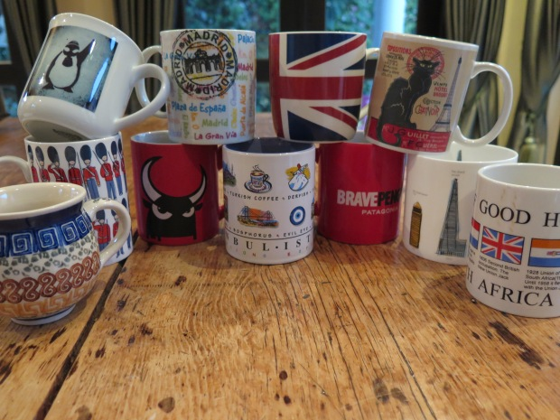 Collection of mugs from around the world