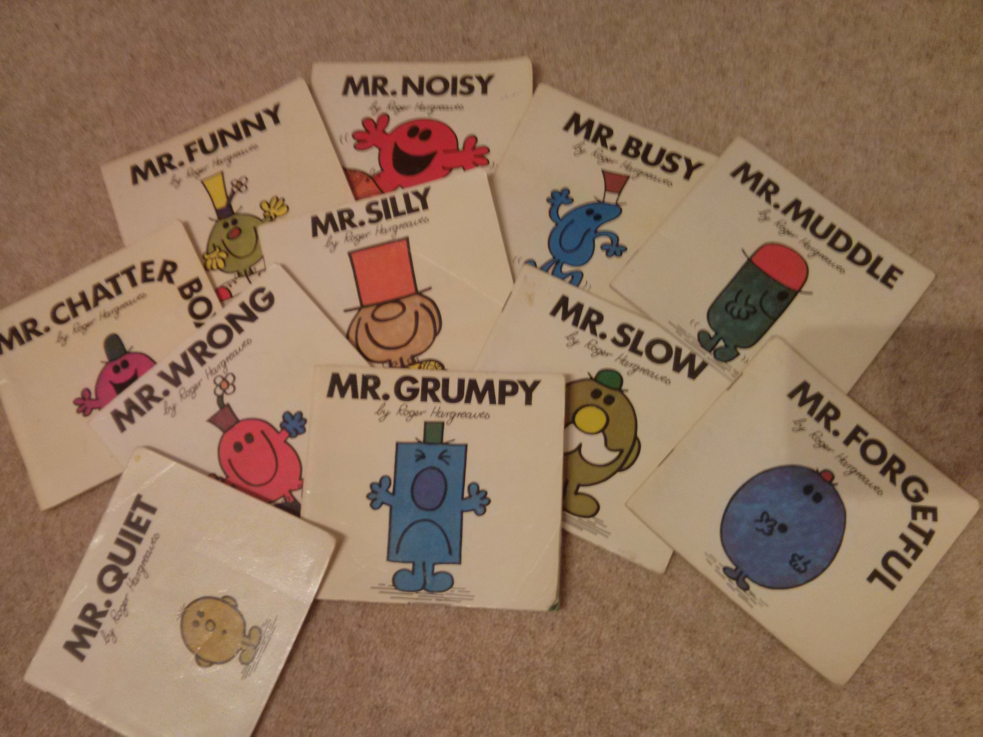 Travel with toddlers and babies, Mr Men books are ideal.