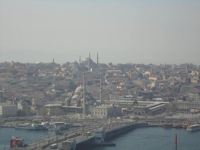 View across the Golden Horn of Sultanahmet, taken from Galata Tower.