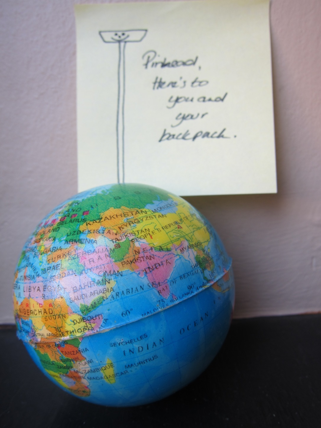 Expat vs Backpack small globe with pin it it