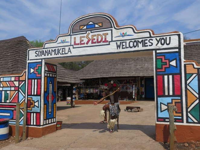 Image result for Ndebele art from Lesedi Cultural Village