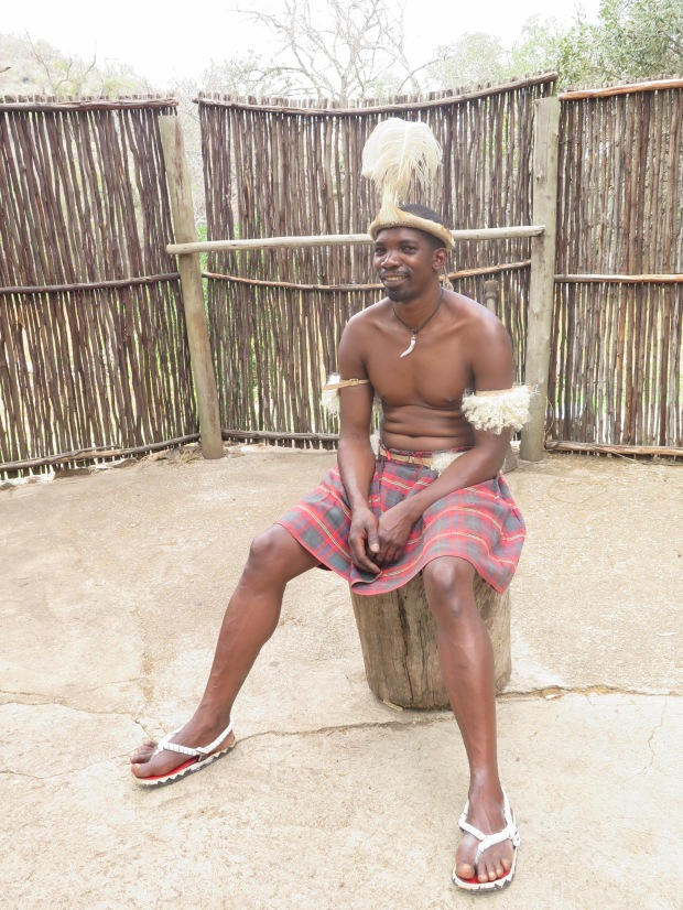 Man wearing traditional Pedi Kilt in South Africa
