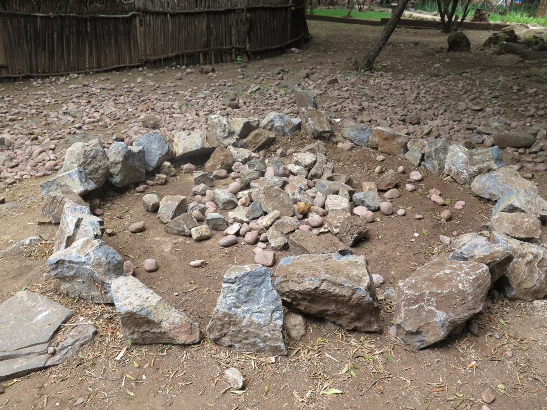 Zulu stone circle to appease the spirits