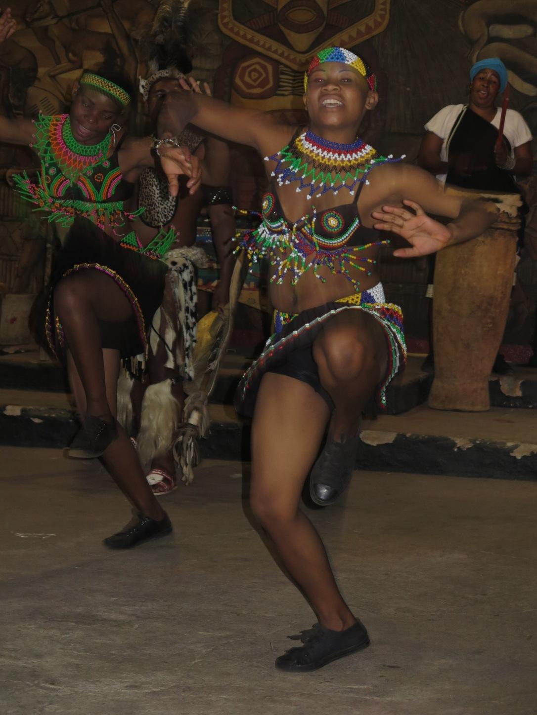 Zulu girl dancing