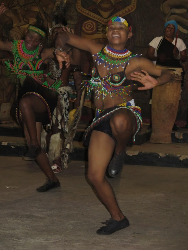 Zulu girl dancing