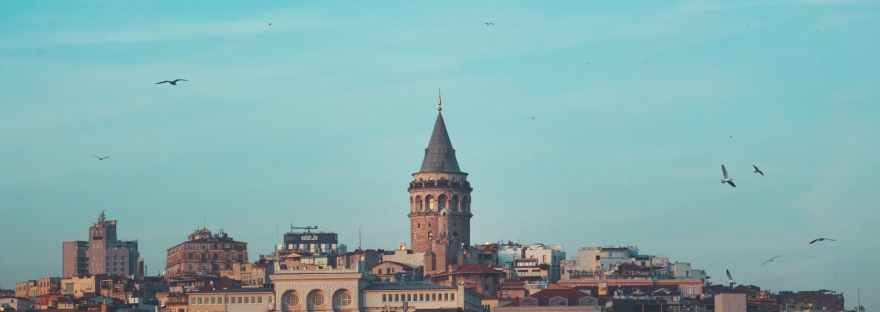 galata tower on istanbul skyline