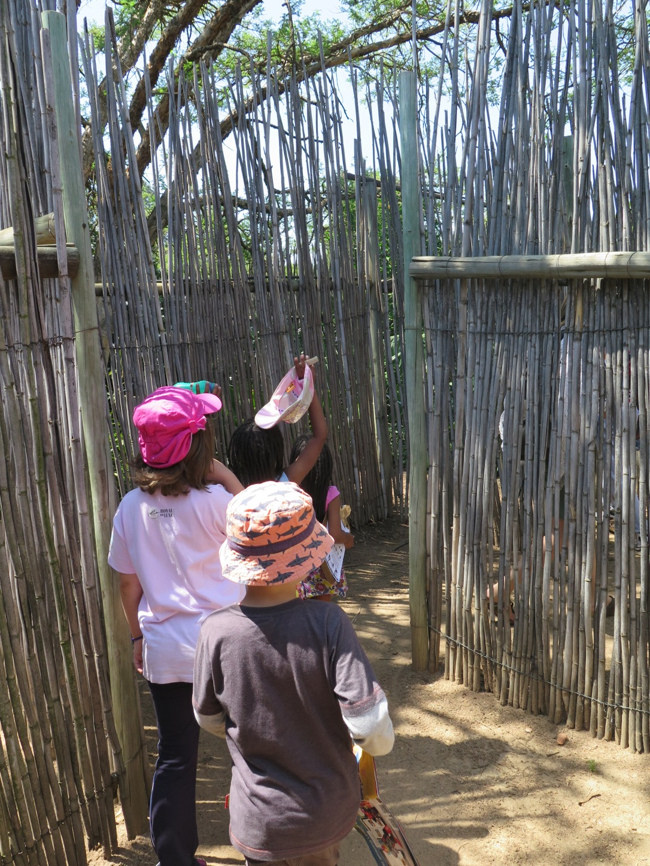 Kids exploring Honeydew Maze, Johannesburg.