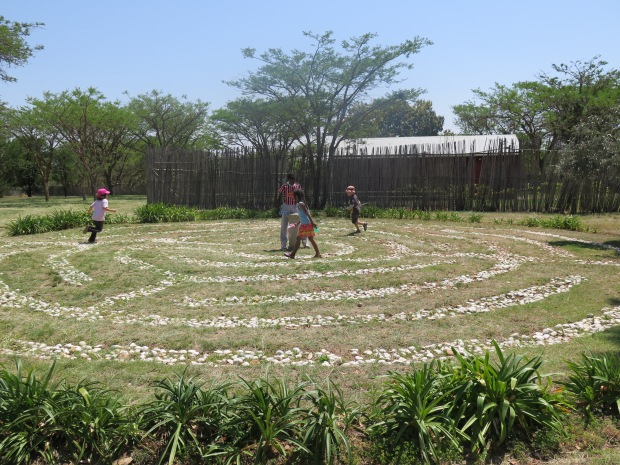 Children playing in Labyrinth