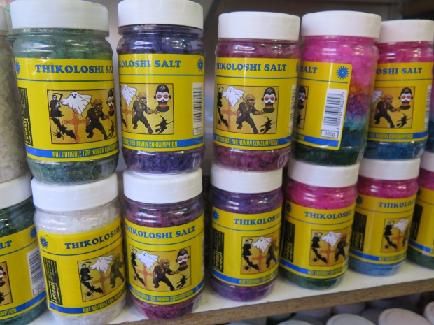 jars of tokoloshe salt or thikoloshi salt for sale in Newtown Johannesburg