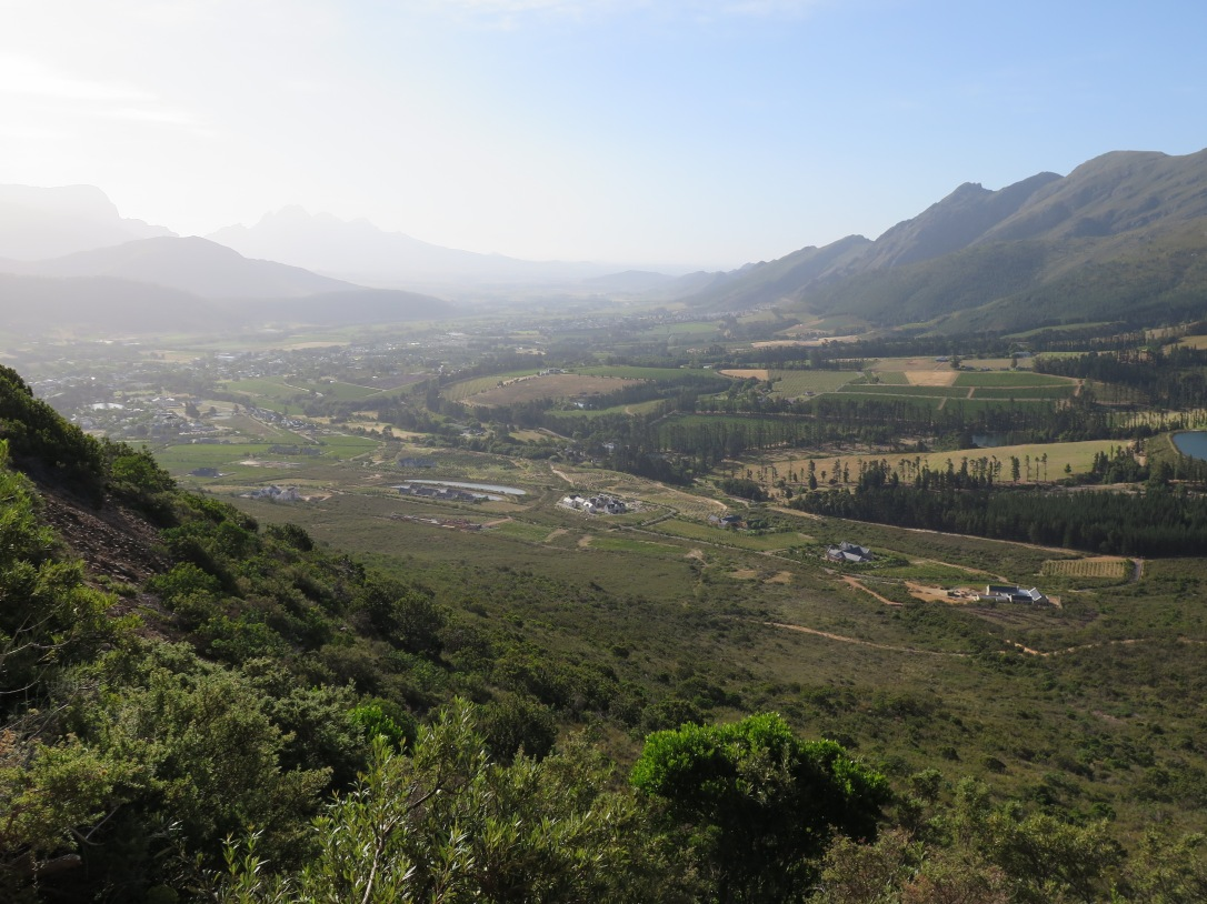 Franschhoek Valley formerly Olifants Valley Translates as French Corner and Elephants corner