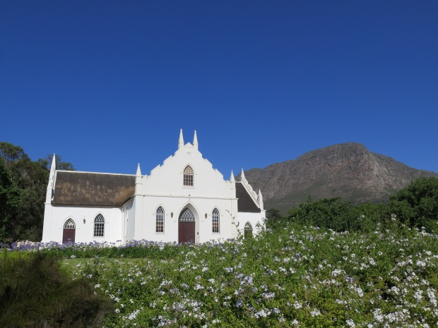 Franschhoek Church on Main Street, Home of many South African Vineyards