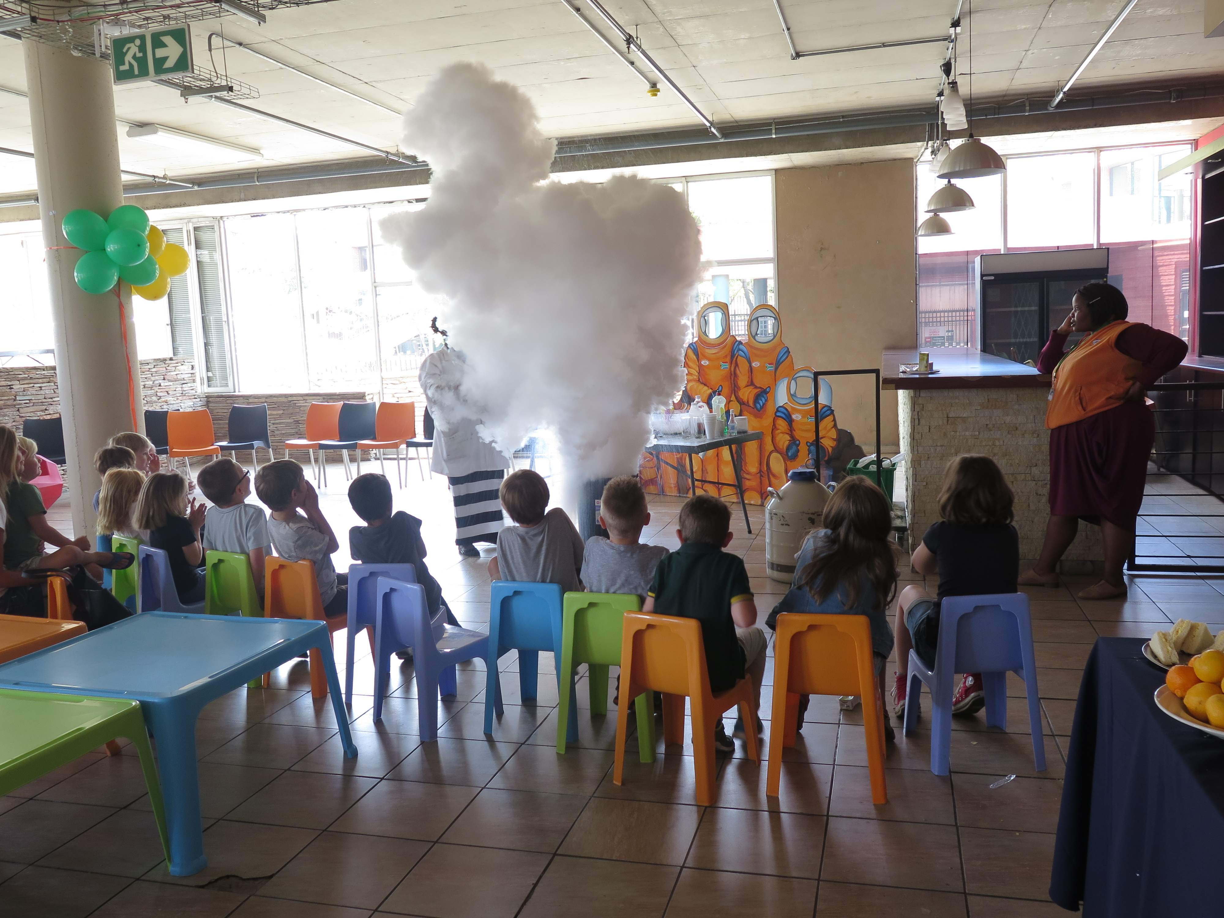 Children's party at Sci Bono Discovery Centre Johannesburg