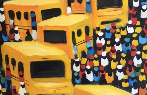 Expat Lagos painting yellow busses Nigeria A-Z