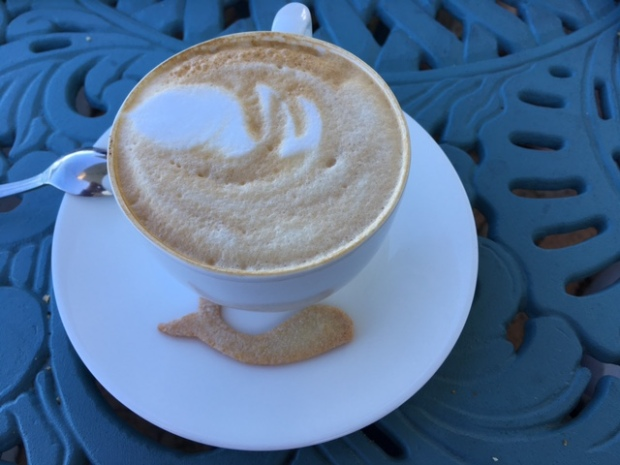 In Hermanus even the coffee is whale themed.