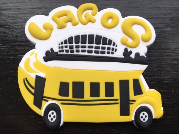 Lagos yellow bus fridge magnet Nigeria