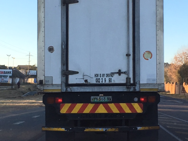 spooky johannesburg a truck that has the words ice cold bodies on it