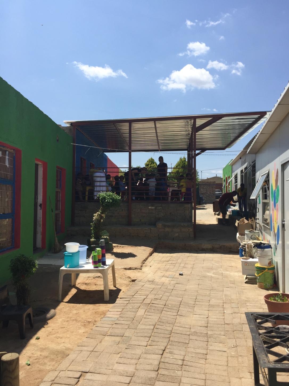 Thokozani preschool Diepsloot Johannesburg, covered veranda.