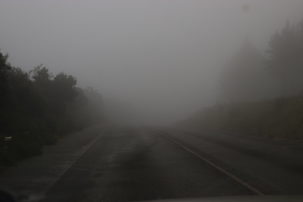 Panorama Route Mpumalanga South Africa mist rolling in