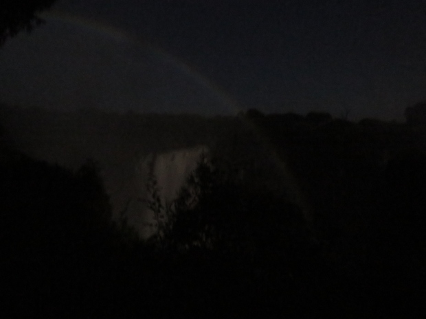 A Moonbow over Victoria Falls taken on the Zimbabwe side