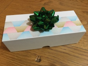 Gift Box with Metallic Ribbon
